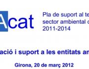Pla de suport al tercer sector ambiental de Catalunya 2011-2014