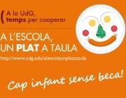 """Imatge de la campanya """"A l'escola, un plat a taula"""""""