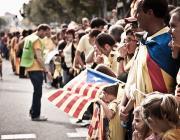 La Via Catalana va ser un èxit de mobilització. Foto de Andrea Ciambra