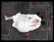 Imatge d'una dona ferida, autor: Libertinus