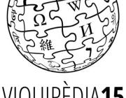 15 anys de la Viquipèdia en català. Font: Twitter de Viquipèdia. Llicència:  Tots els drets reservats