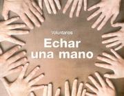 """Imatge mans amb eslògan: """"Echar una mano"""""""