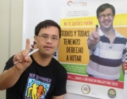 La Convenció de les Nacions Unides preveu que totes les persones amb discapacitat poden participar a la vida política. Font: Downberri.org