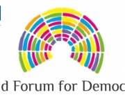 Logotip del World Forum for Democracy