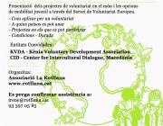 xerrada informativa sobre voluntariat internacional
