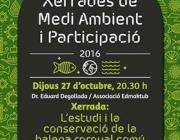 Xerrada sobre la conservació del rorqual en el primer cicle de xerrades sobre medi ambient i participació, a Calella (imatge: Ajuntament de Calella)