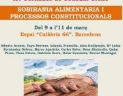 XV Jornades de Consum Crític: Sobirania alimentària i processos constitucionals. Font: Xarxa de Consum Solidari
