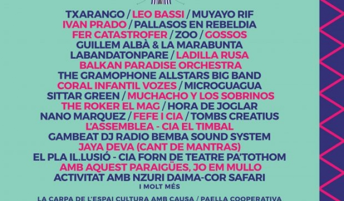Cartell del Festival Esperanzah! 2017 Font: Festival Esperanzah!