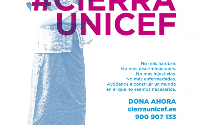 Imatge de la campanya #CierraUnicef