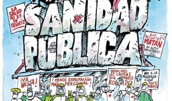 Defensa del sistema de salut públic, còmic d'Afagra&Revuelta Font: Afagra&Revuelta