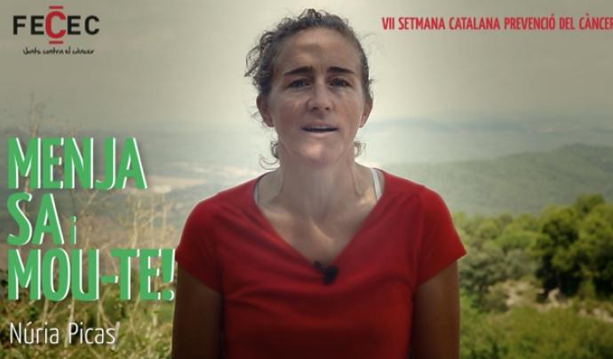 Núria Picas protagonitza l'espot de la Setmana 2018 Font: FECEC