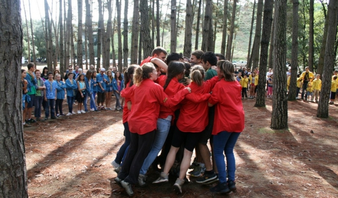 Cerimònia de Passos, que els agrupaments celebren a l'inic de curs Font: AEiG Montpalau
