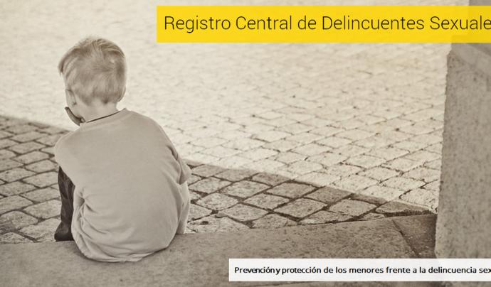 Imatge de portada del Registre de Delinqüents Sexuals. Font:web mjusticia.gob.es