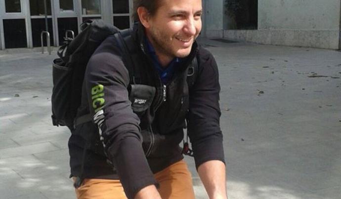 Benjamí Aguilar, Secretari de l'Associació Granollers Pedala, i membre de l'equip tècnic de l'entitat. Font: Granollers  Pedala