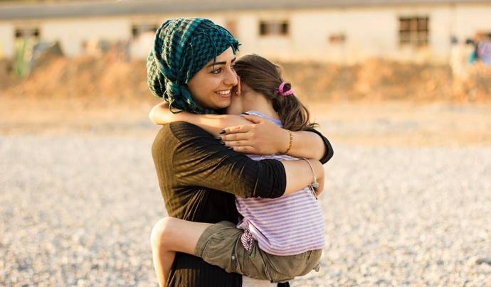 Fotografia d'Oriol Barri al camp de refugiats de Vasilika / Foto: Oriol Barri