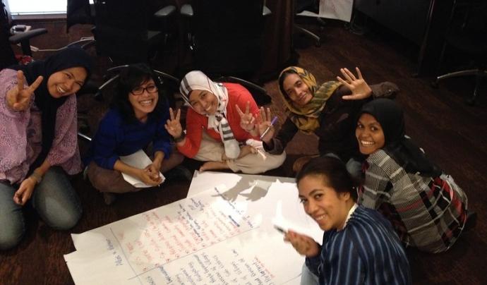 Taller a Tailàndia amb dones d'Indonèsia, Myanmar i Nepal de diversos sectors sobre participació de dones en processos de pau, organitzat per Inclusive Security i el PNUD.  Font: Inclusive Security