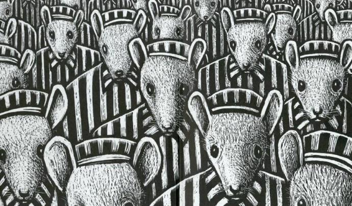 La població jueva està representada per ratolins al còmic d'Art Spiegelman 'Maus'. Font: Art Spiegelman