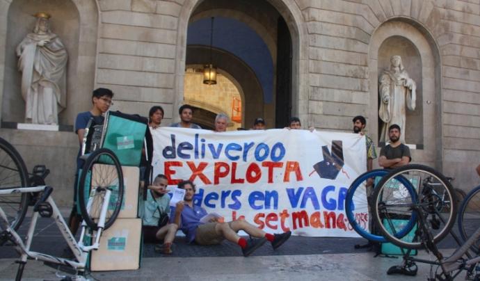 Manifestació treballadors Deliveroo