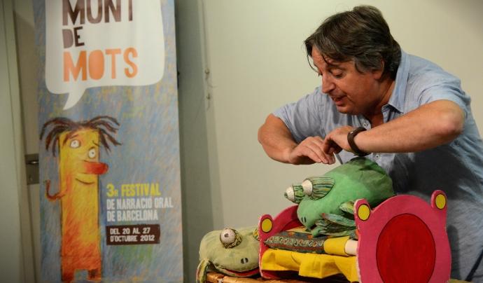 Cesc Serrat durant un espectacle del Munt de Mots Font: Associació Munt de Paraules
