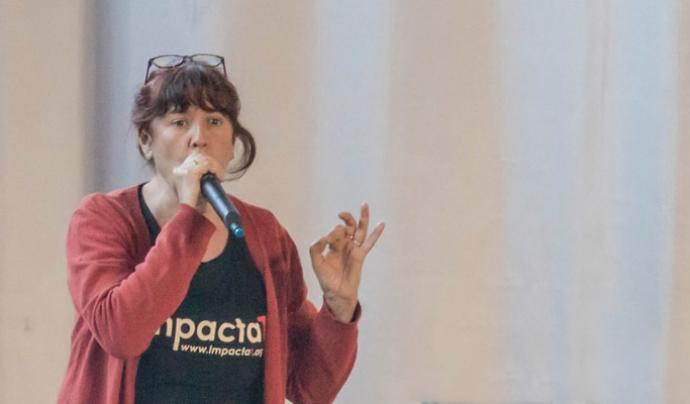 Anna Caubet. és una de les fundadores d'ImpactaT i actriu especialitzada en teatre social.  Font: ImpactaT