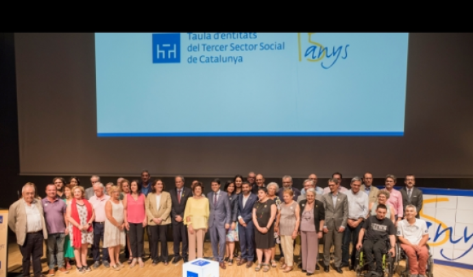 Imatge de l'acte dels 15 anys de la Taula d'entitats del Tercer Sector Social de Catalunya Font: Taula del Tercer Sector Social