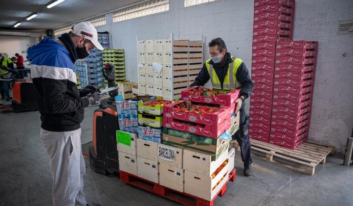 El Banc dels Aliments de Barcelona va distribuir l'any passat 19,8 milions de quilos de menjar. Font: Banc dels Aliments Barcelona