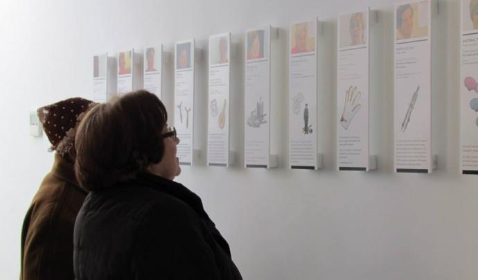 Exposició del projecte 'Las Pieceras' sobre el treball extradomèstic de les dones del Raval Font: Territoris Oblidats