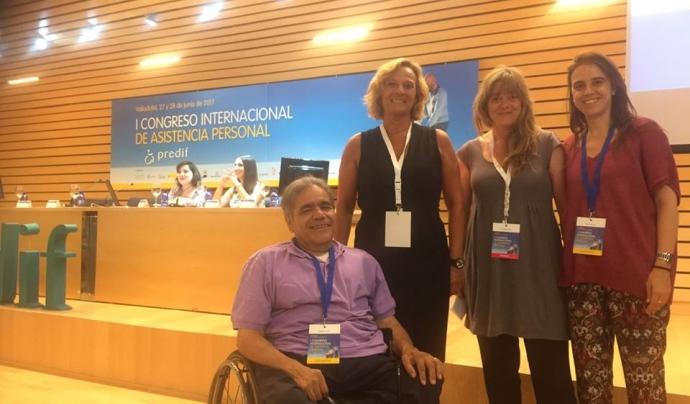 Membres d'ECOM i representant de la Generalitat de Catalunya, al I Congrés Internacional d'Assistència Personal