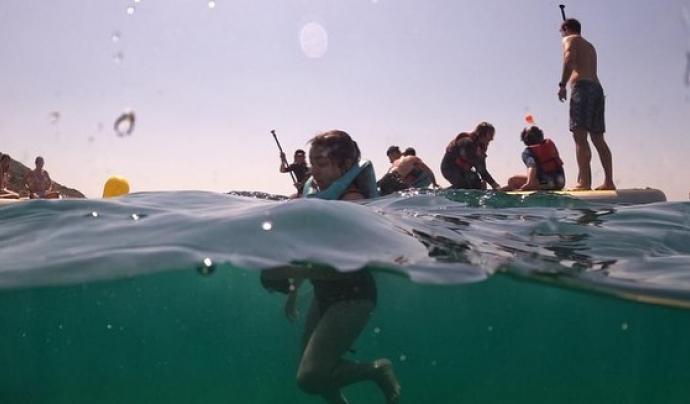 Més que Surf atén cada curs una quarentena d'infants de forma gratuïta. Font: Més que Surf