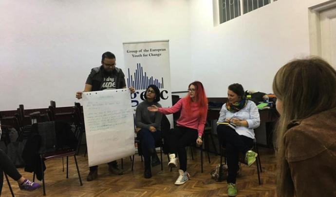 Seminari sobre activisme online, un dels tallers de la conferència Font: TurnOnline
