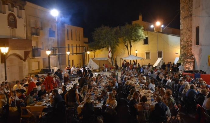 Imatge del sopar de germanor de la Festa dels Miquelets.