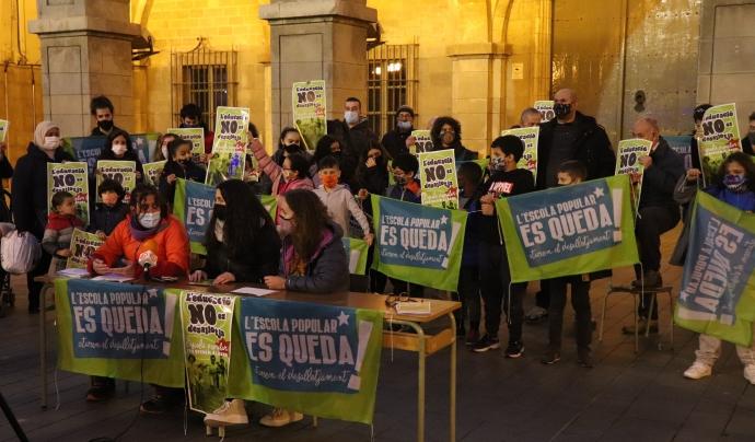 L'Escola Popular de Manresa ha fet una campanya per demanar suports contra el seu desallotjament Font: Escola Popular de Manresa