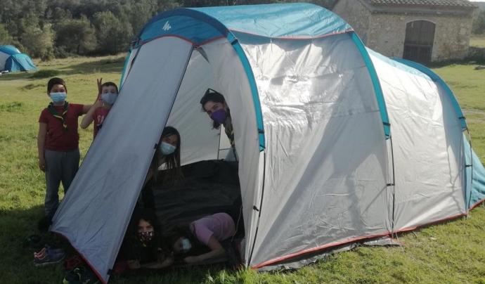 Els grups de convivència ja poden ser de fins a 24 participants en els casals, i fins a 30, en els campaments. Font: AEiG La Canadenca - Minyons Escoltes i Guies de Catalunya