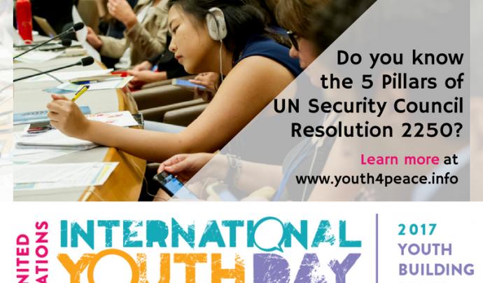 Dia Internacional de la Joventut 2017 Font: Nacions Unides