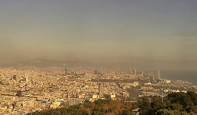Contaminació de l'aire Font: Plataforma de la Qualitat de l'Aire