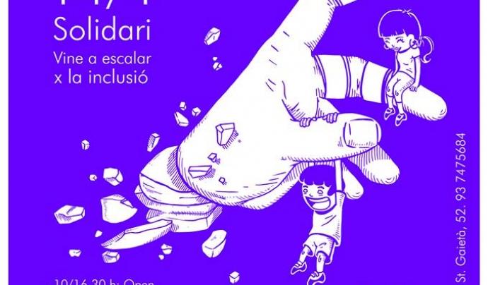 Cartell del 5è Open d'escalada Font: Gravetat zero
