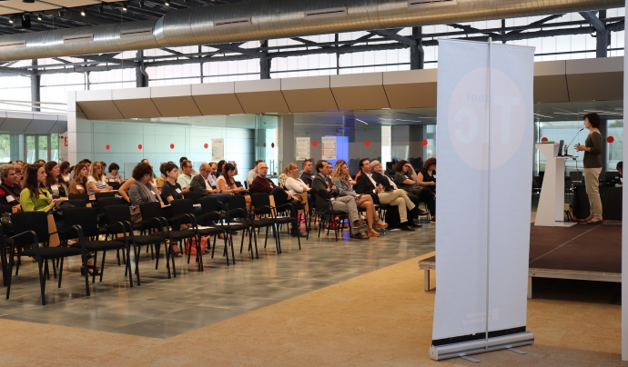 130 persones es vinculades amb la dinamització digital es van trobar a la Jornada de la Internet Social 2018 Font: Xarxa Punt TIC