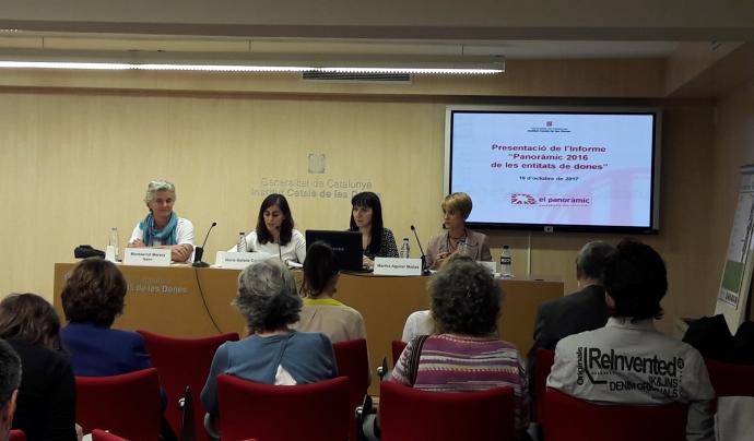 Presentació del Panoràmic de les entitats de dones Font: Fundació Pere Tarrés