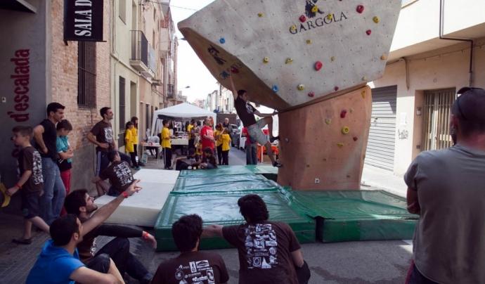 Foto del Tercer Open de bloc de Gravetat Zero, open solidari Font: Gravetat zero