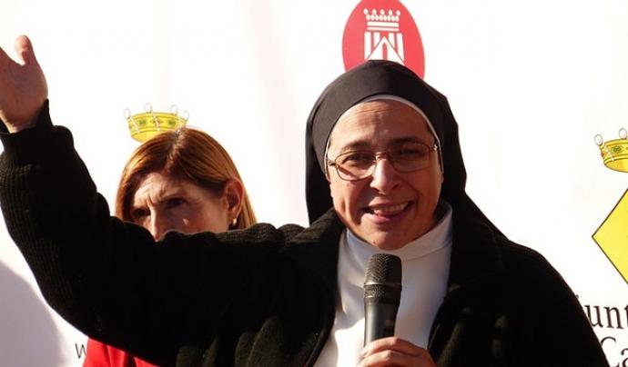 La monja dominica Sor Lucia Caram participarà a la taula de debat. Font: Calafellvalo, Flickr