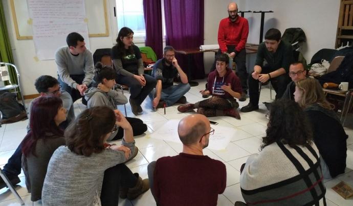 Trobada de la comunitat Pam a Pam a Sabadell al febrer. Font: Xarxa d'Economia Solidària