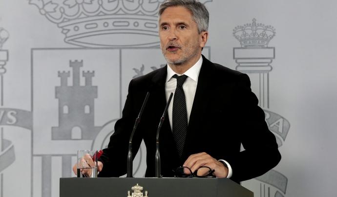 El ministre de l'Interior, Fernando Grande-Marlaske, en una roda de premsa. Font: La Moncloa - Gobierno de España (CC BY-NC-ND 2.0)