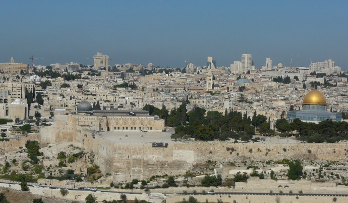 Vista aèria de Jerusalem (de Cycling Man CC BY-NC-ND 2.0) Font: Cycling Man CC BY-NC-ND 2.0