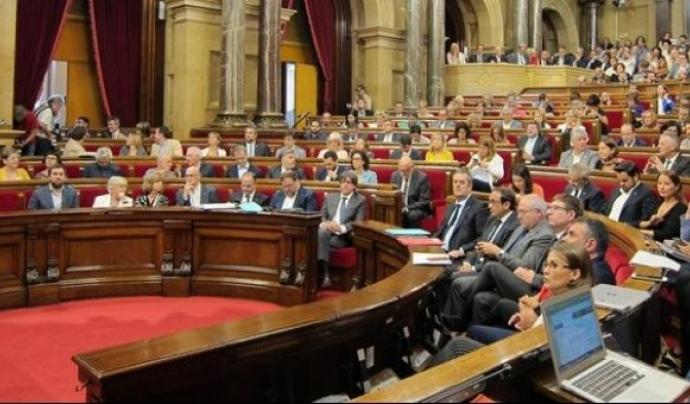 El Parlament durant la votació de la llei que crea l'Agència