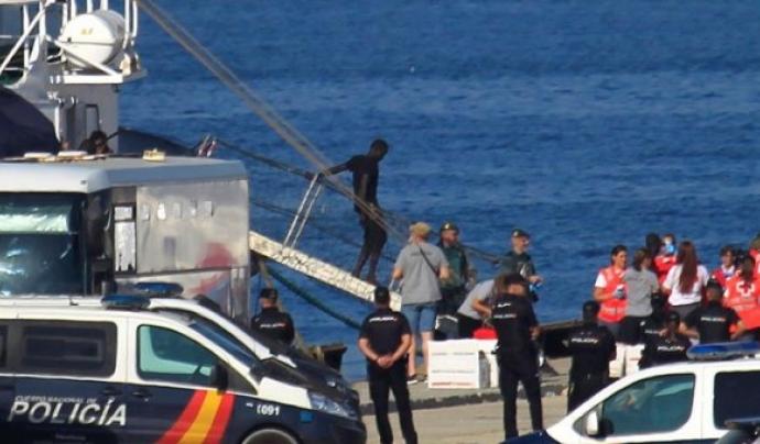 El patruller 'Audaz' de l'Armada.  Font: Europasur.es