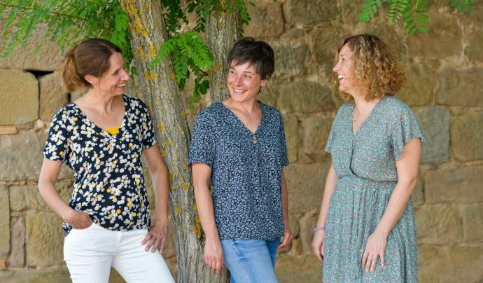 Judith Pardos, Núria Serena i Núria Alamon, de la cooperativa Raiels Font: Pam a pam