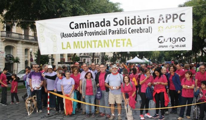 Imatge de l'inici de la 7a caminada La Muntanyeta Font: APPC Tarragona
