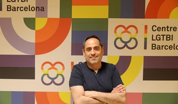 Joaquim Roqueta, a la seu de Gaispositius a Barcelona. Font: Ignasi Robleda