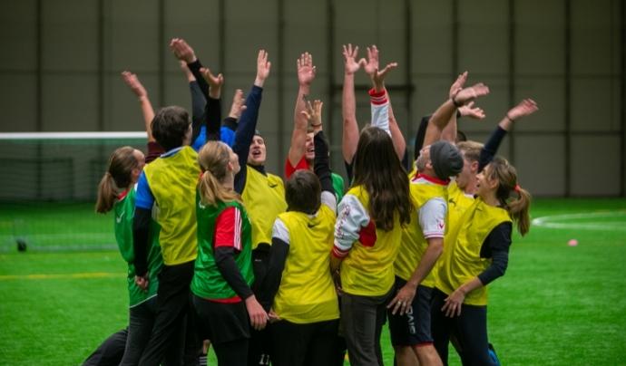 Voluntaris internacionals del recentment format 'Green Team' van formar part de la trobada. Font: Gertrud Alatare Font: Gertrud Alatare