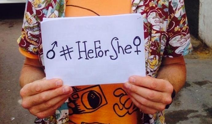 Mostra de suport a #HeForShe Font: #HeForShe